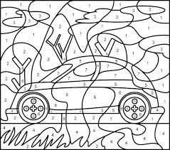 Hard Color By Number Page Bells Printable Really Coloring Pages With Key