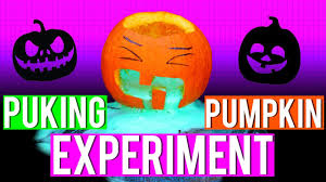 Vomiting Pumpkin Guacamole by Puking Pumpkin Experiment Styloween Pintry Youtube