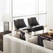 Contemporary Fireside Chair / Leather / Lacquered Wood ...