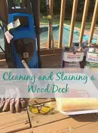 Restaining A Deck Do It Yourself by Real U0027s Realm Cleaning And Staining A Wood Deck