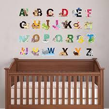 animal alphabet wand kunst aufkleber für baby