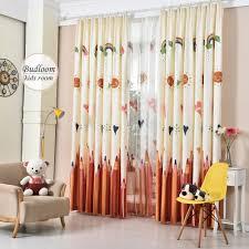 rideau pour chambre bébé coloré crayon imprimé rideaux pour chambre d enfants faux linge