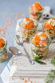 fingerfood für silvester linsensalat im glas mit lachs und