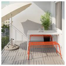Runnen Floor Decking Uk by Väddö Västerön Table 2 Benches Outdoor White Orange Ikea