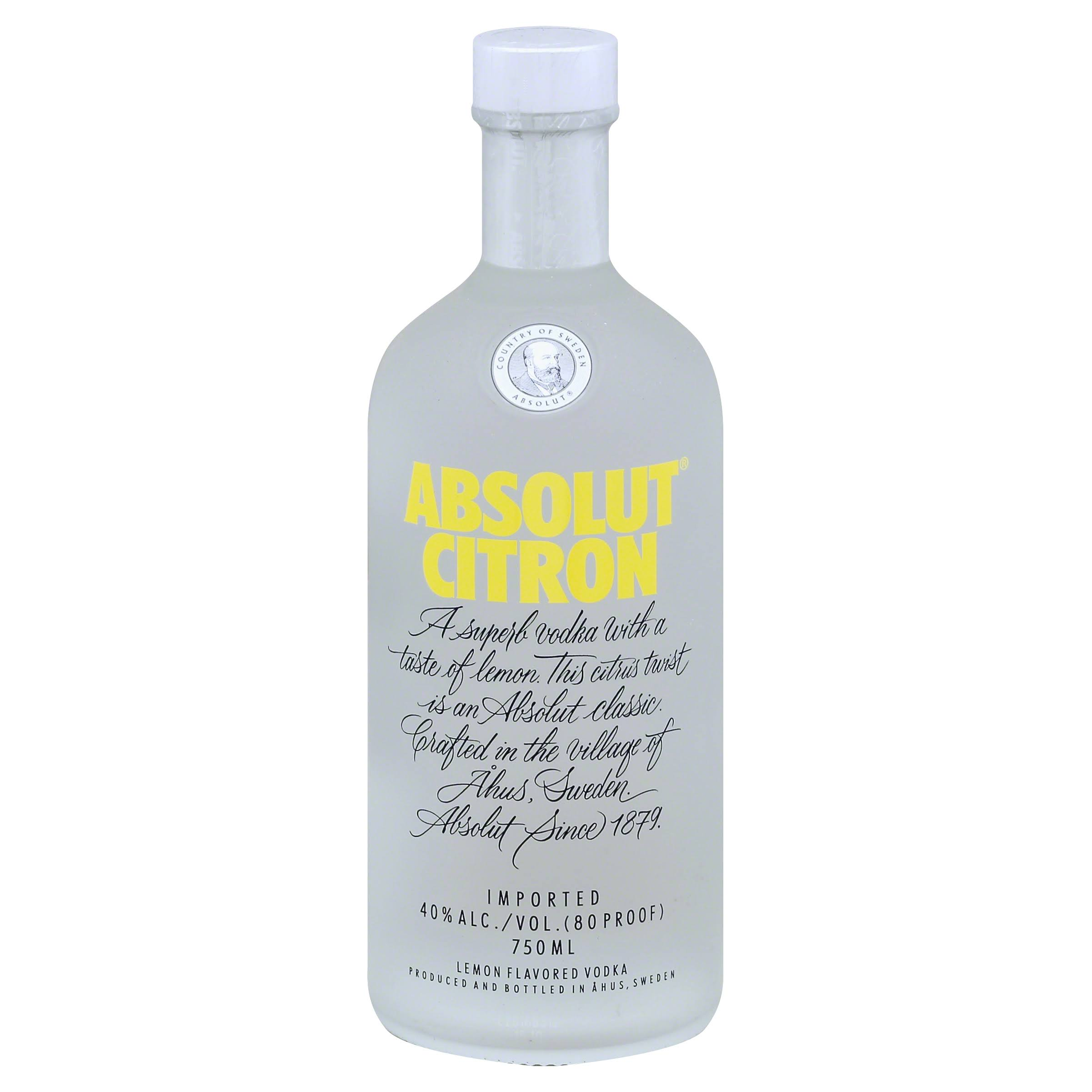 Absolut Citron Vodka - 750ml