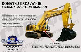 100 Heavy Truck Vin Decoder Serial Number Location For Your Komatsu Excavator