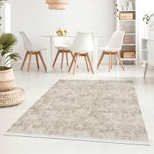 waschbarer teppich für wohnzimmer küche flur teppichläufer modern versch größen beige