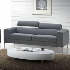 canapé gris design canap 2 places design top canap places design traffic sofa par