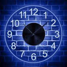 vintage numerals led illuminated acrylic hanging wall clock home decor