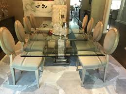 Dining Table With Stainless Steel Column Base By Brueton In Excellent Condition For Sale Manchester