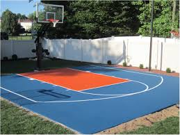 Backyards: Amazing Backyard Basketball Court Size. Modern Backyard ... Triyae Asphalt Basketball Court In Backyard Various Design 6 Reasons To Install A Synlawn Home Decor Amazing Recreational Lighting Full 4 Poles Fixtures A Custom Half For The True Lakers Snapsports Outdoor Courts Game Millz House Cost Australia Home Decoration Residential Gallery News Good Carolbaldwin Multisport System Photo Diy Stencil Hoops Blog Clipgoo Modern