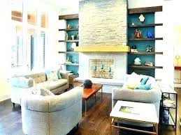 Blue Accent Wall Living Room In Awesome Teal Dining