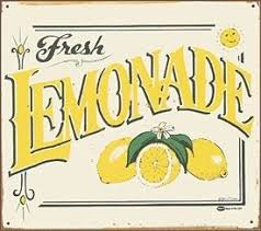 Vintage Lemonade Sign Love On A Hot Summer Day
