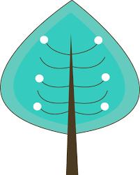 Teal Winter Tree