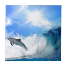 dolphin ceramic tiles zazzle