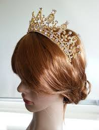 crown tiara gold crown bridal tiara wedding crown gold