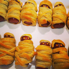 Halloween Hotdog Fingers Recipe by Mummy Dogs Recipe For Halloween