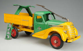 Buddy L Pressed Steel International Baggage Truck With Extremely ... Fileau Printemps Antique Toy Truck 296210942jpg Wikimedia Vintage Toy Truck Nylint Blue Pickup Bike Buggy With Sturditoy Museum Detailed Photos Values Appraisals Vintage Metal Toy Truck Rare Antique Trucks Youtube Dump Isolated Stock Photo Image 33874502 For Sale At 1stdibs Free Images Car Vintage Play Automobile Retro Transport Pressed Steel Wow Blog Tin Rocket Launcher Se Japan Space Toys Appraisal Buddy L Trains Airplane Ac Williams Cast Iron Ladder Fire 7 12