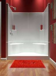 one bathtub and surround3 smooth wall shower one