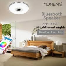 mumeng led decke licht 32 watt wohnzimmer musik le bluetooth lautsprecher lara bunte dimmbare kunst dekoration beleuchtung