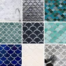 Teal Bathroom Tile Ideas by Best 25 Fish Scale Tile Ideas On Pinterest Mermaid Tile Unique