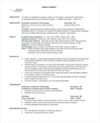 Sample Computer Science Resume Internship Samples For Examples Recent