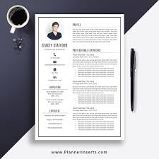 Editable Professional Resume Template 2019, Cover Letter, Office Word  Resume, Simple CV Template, Creative & Modern Resume, Instant Download:  Stacey ...
