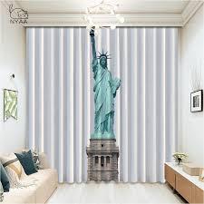 nyaa 2020 vorhänge für schlafzimmer statue of liberty new york fenster vorhänge für wohnzimmer küche vorhänge 1pc micro schattierung