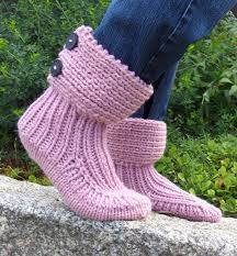 slipper socks and boots knitting patterns in the loop knitting