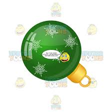 Shiny Green Christmas Tree Ball Ornament With Snowflakes