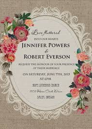 Cheap Vintage Rustic Roses Wedding Invitations EWI397