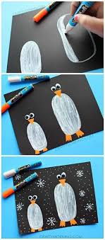 Penguins In The Dark Craft For Kids To Make Great Winter Time Using Fun