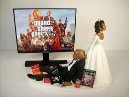 Wedding Cake Topper Custom GTA 5 GAME Video Gamer Xbox One PS4 African American Black