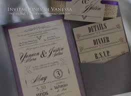 Purple Wedding Invitations Kits Luxury Rustic Invitation Pocket Fold With Recycled Cardstock And