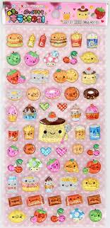 Q Lia Sticker Food Kawaii Pudding Japan Cute Mushroom 2
