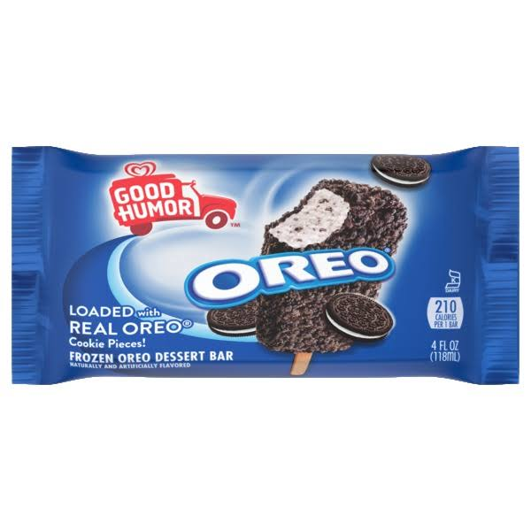 Good Humor Ice Cream & Frozen Desserts Single Bar Oreo 4 oz