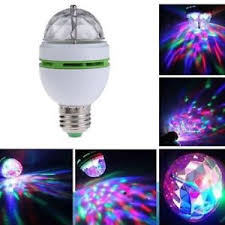 3w e27 rgb rotating led stage light bulbs disco