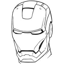 Free Printable Iron Man Helmet Coloring Pages