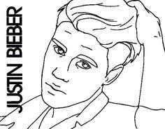 Justin Bieber Close Up Coloring Page