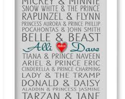 16 X 20 Canvas Disney Famous Couples Print Art Personalized Gift