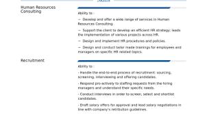Hr Consultant Resume Sample