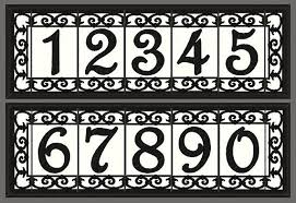 Mexican Tile House Numbers With Frame by Iron Scroll House Numbers Ceramic Address Tiles Framed Set