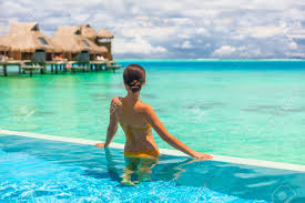 100 Infinity Swimming Luxury Overwater Bungalow Hotel Room With Infinity Swimming Pool