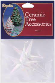 Colored Bulbs For Ceramic Christmas Tree by Amazon Com Darice Ceramic Christmas Tree Star 3 875