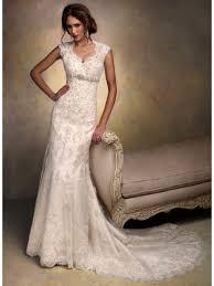 Rustic Vintage Lace Wedding Dress