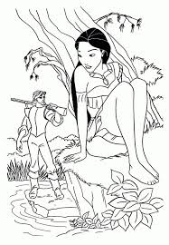 Pocahontas Seeing John Smith Coloring Pages