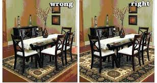 What Size Rug For Dining Table And Chairs Area Room Choose A Living Design Ideas 72