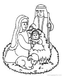 Bible Christmas Story Coloring Pages 29
