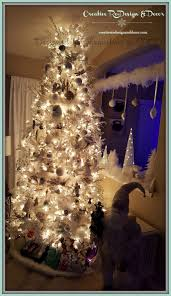 Foot White Flocked Tree With And Silver Ornaments Ornament Drop Between Opening Jpg 2059x3564