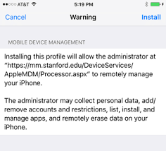 Enroll an iOS Device in Mobile Device Management AirWatch